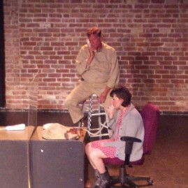 "JAIL SCENE W GEORGE AND ""STAGEHAND"""